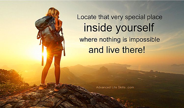 wise words - inside yourself nothing is impossible